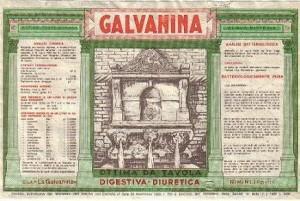 Etichetta dell'acqua Galvanina