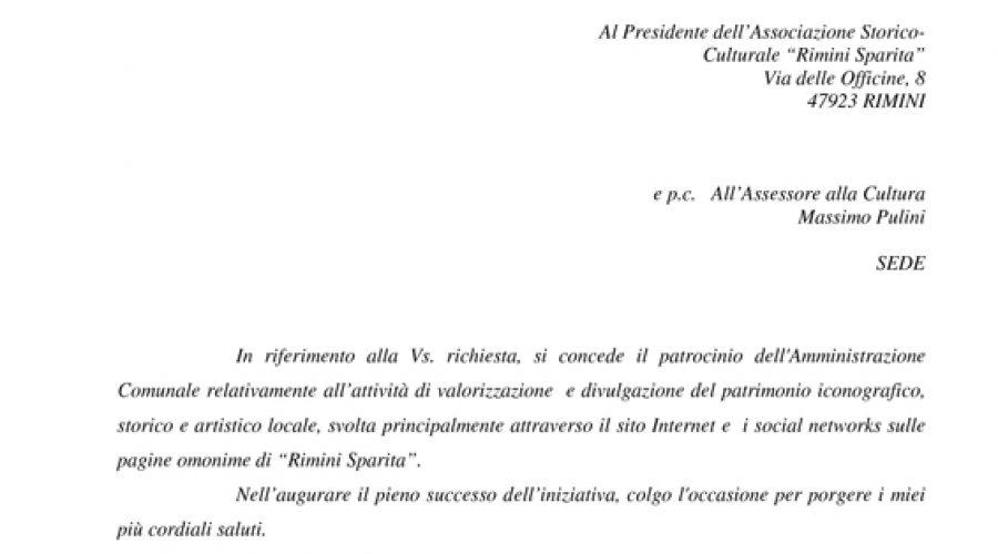 Concessione patrocinio del Comune di Rimini