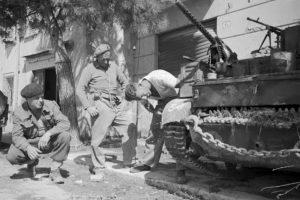 Tank fight rages close to Rimini